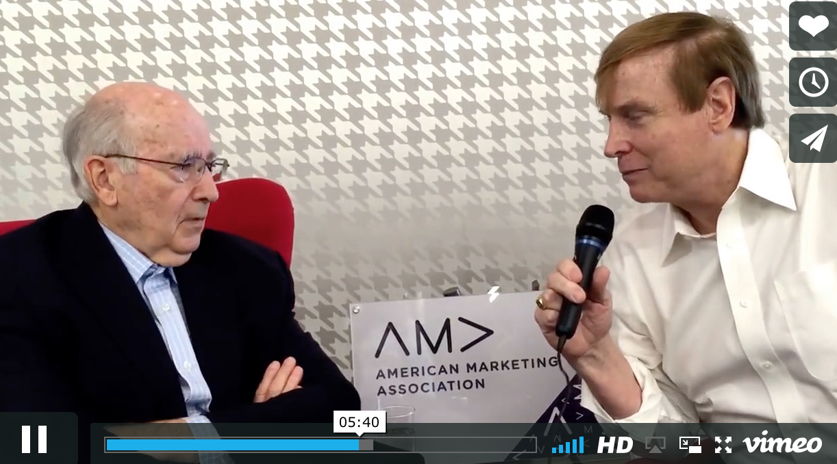 VIDEO: Where are we headed?  The AMA's Russ Klein interviews Phil Kotler